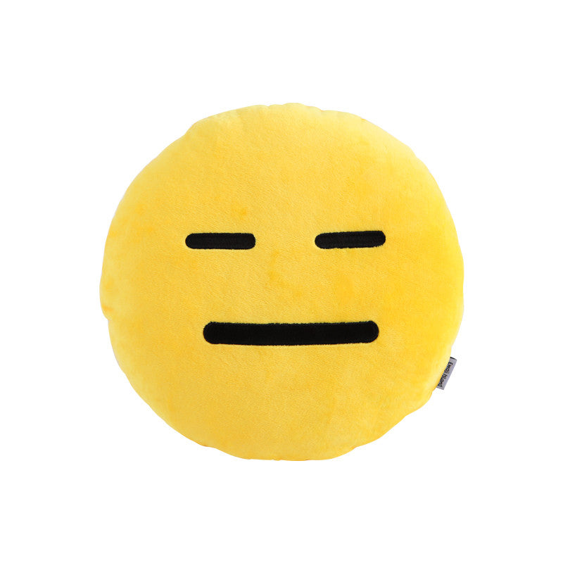 Expressionless Emoji Pillow - Emoji Shop