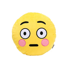 Cute Shy Face Emoji Pillow - Emoji Store