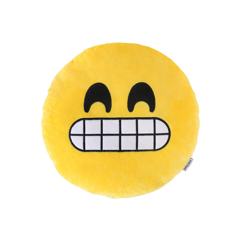 Grin Emoji Pillow by Emoji Island