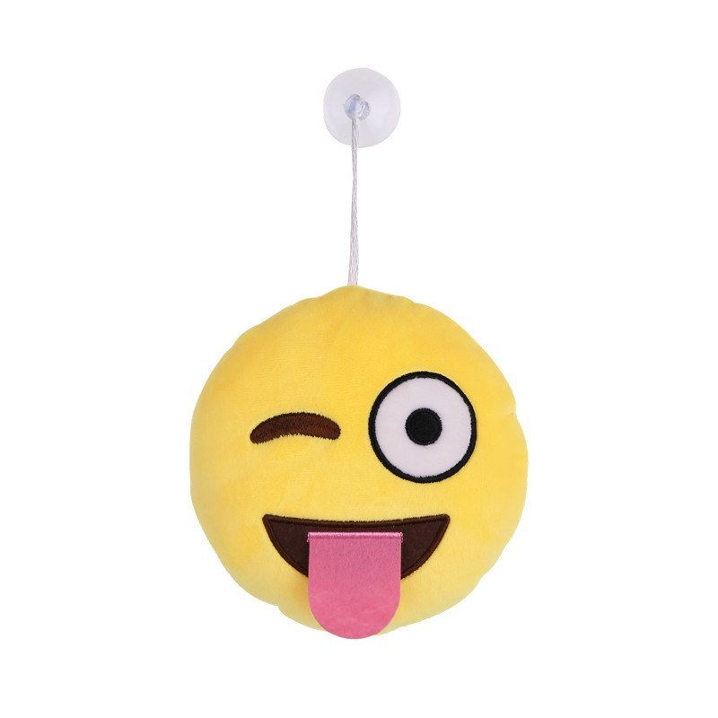 Tongue Out Emoji Hanging Plushes - Emoji Shop