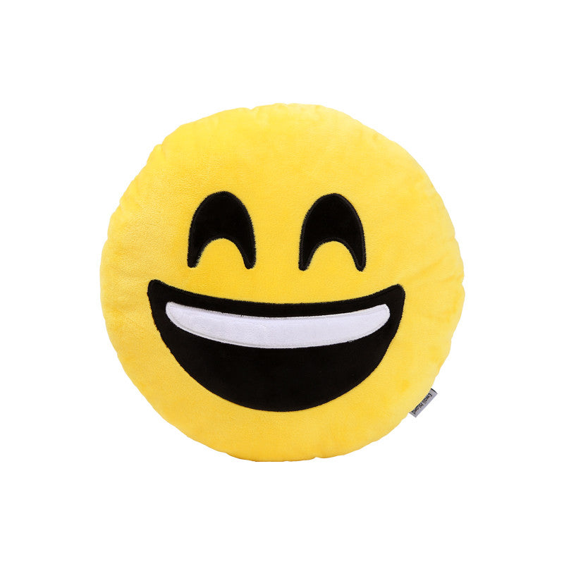 Happy Emoji Pillow by Emoji Island