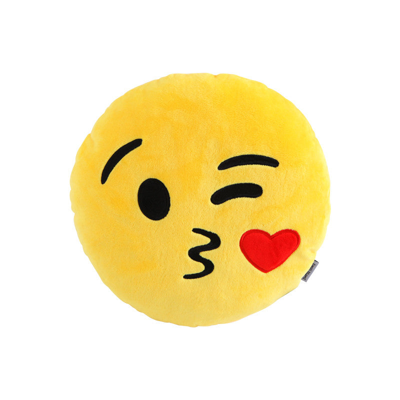 Kiss Emoji Pillow by Emoji Island