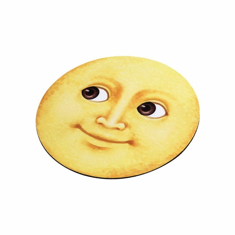 Yellow Moon Emoji Mouse Pads - Emoji Shop