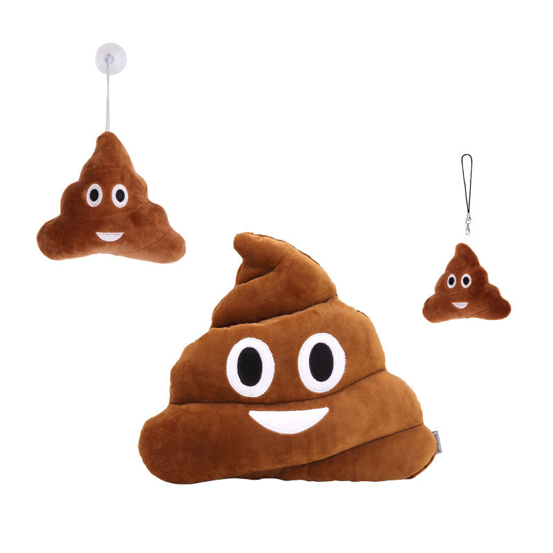 Poop Poo Emoji Pillow, Keychain, Plush