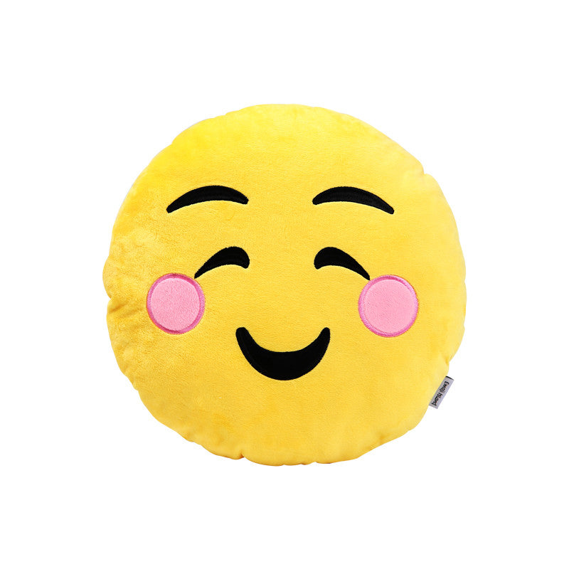 Shy Emoji Pillow by Emoji Island