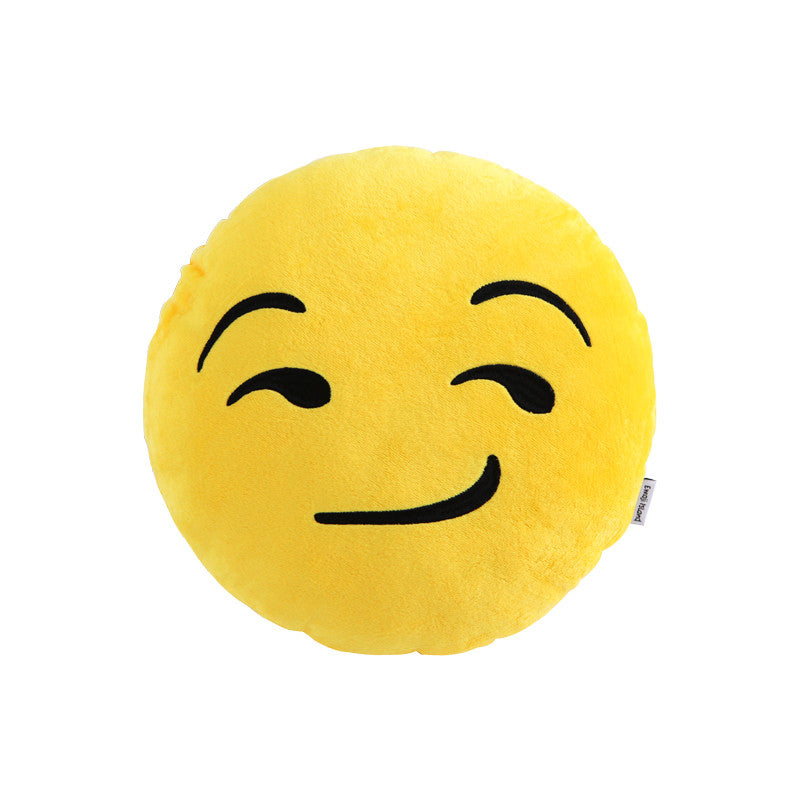 Smirk Emoji Pillow by Emoji Island