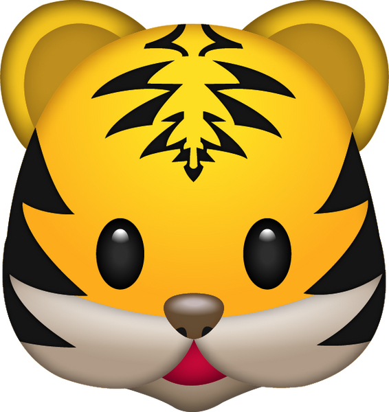 cute cartoon tigers face