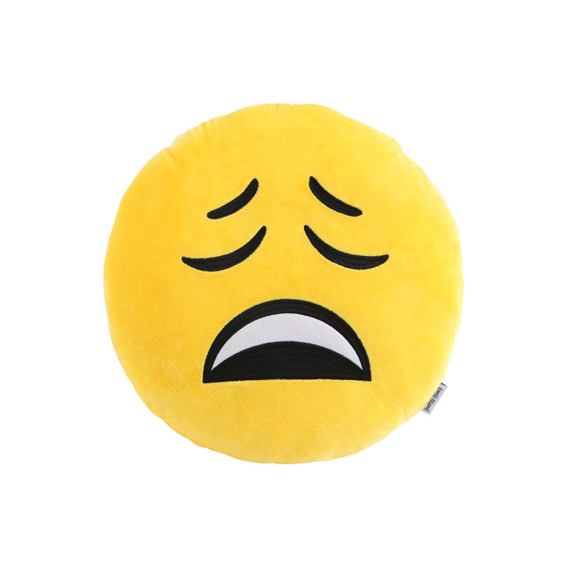 Tired Emoji Pillow by Emoji Island