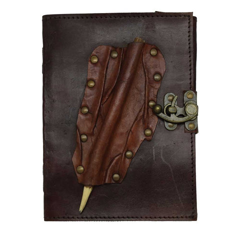 Leather Journal With Pencil Holder