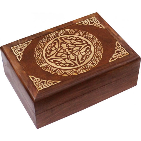 Celtic Wooden Carved Box