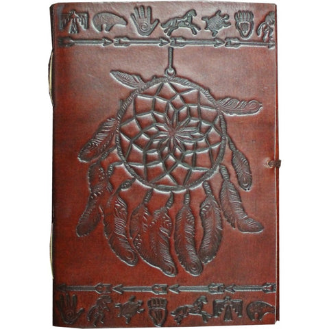Dream Catcher Leather Journal