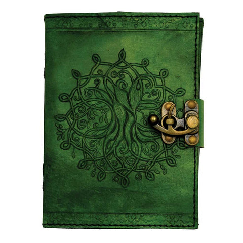Green Tree Of Life Leather Journal