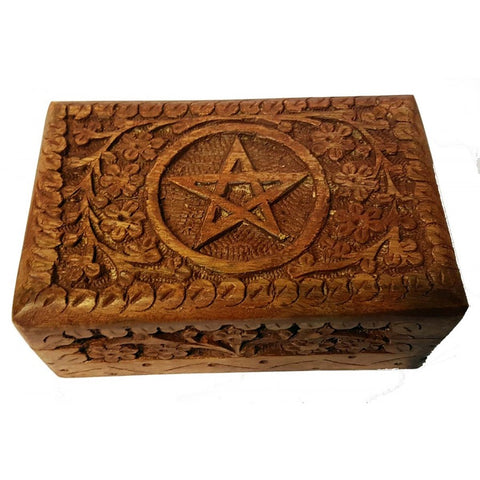 Pentagram Pentacle Wooden Box