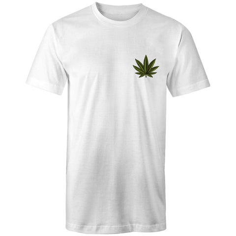 Men's Long Cannabis Pocket T-shirt - The Hippie House