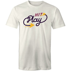 Men's Hit Play Music T-shirt - The Hippie House