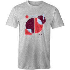 Men's Abstract Coffee Bean T-shirt - The Hippie House