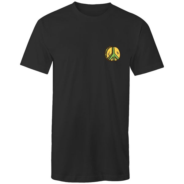 Men's Peace Sign Long Styled Pocket T-shirt - The Hippie House