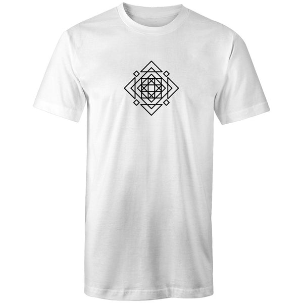 Men's Long Styled Abstract Logo T-shirt - The Hippie House