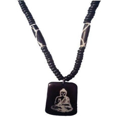 "10"" Buddha Beaded Necklace - The Hippie House"