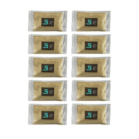 10 Pack Of 67 Gram Boveda Humidipaks - 62% - The Hippie House