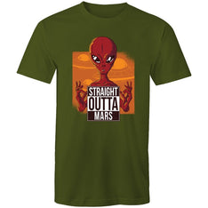Men's Straight Outta Mars T-shirt - The Hippie House