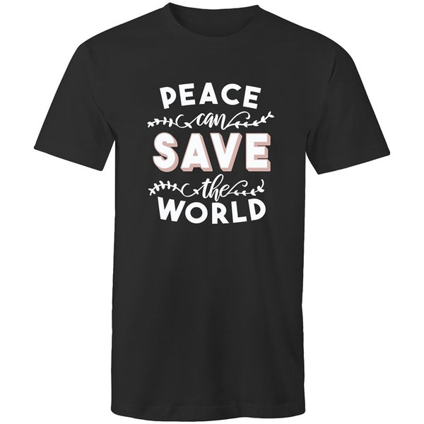 Men's Peace Can Save The World T-shirt - The Hippie House