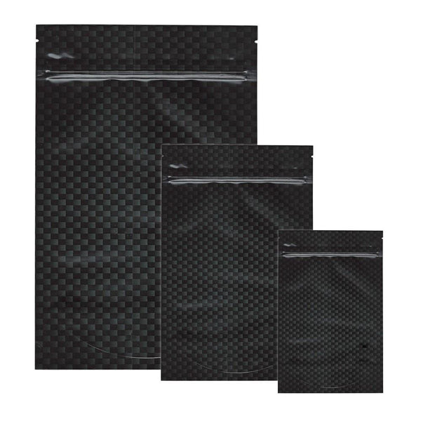 Stealth Smell Proof Bags - Carbon Fiber - Various Sizes - The Hippie House