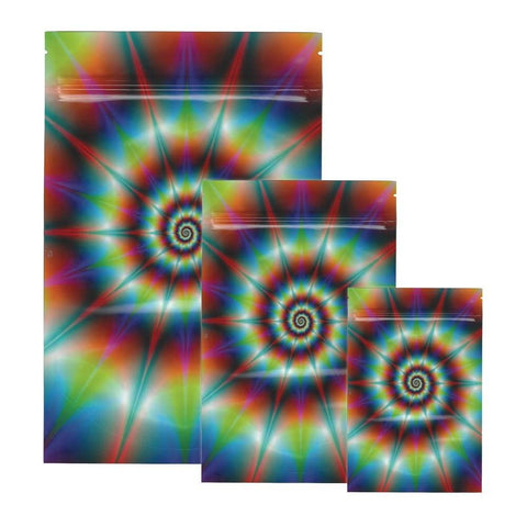 Tie Dye Stealth Smell Proof Bags - Carbon Fiber - Various Sizes - The Hippie House