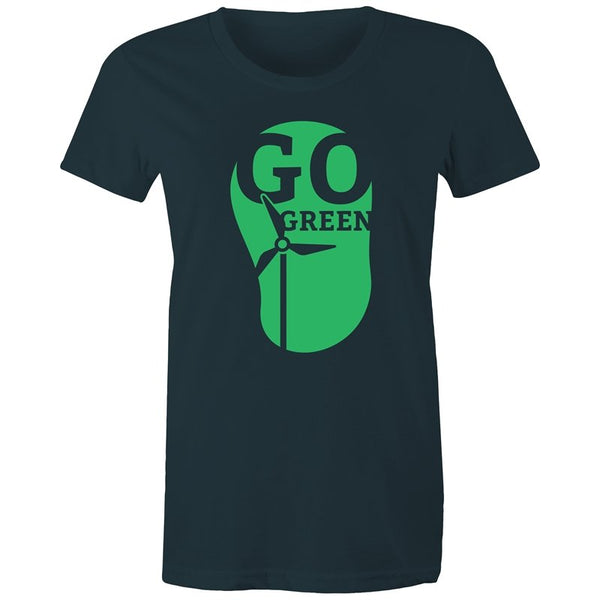Women's Go Green Environmental T-shirt - The Hippie House
