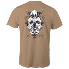 Men's Skull And Moth Graphic Tee - The Hippie House