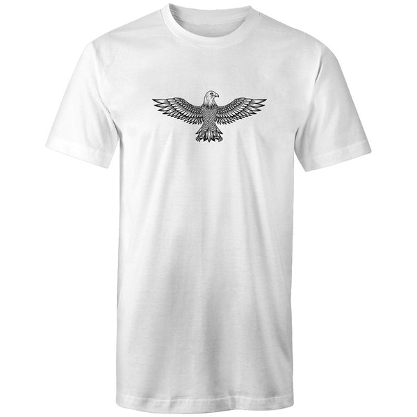 Men's Long Styled Surfer Eagle Crest T-shirt - The Hippie House