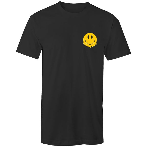 Men's Long Styled Smiley Face Pocket T-shirt - The Hippie House