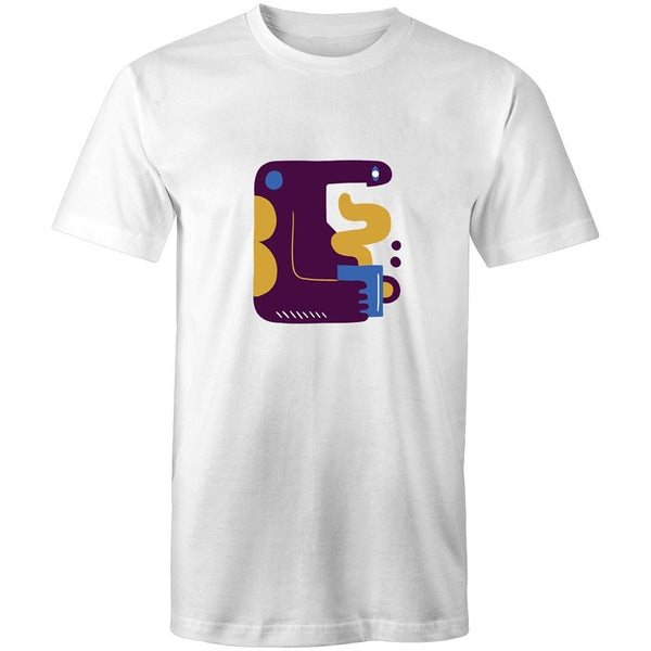 Men's Abstract Coffee Making Monster T-shirt - The Hippie House
