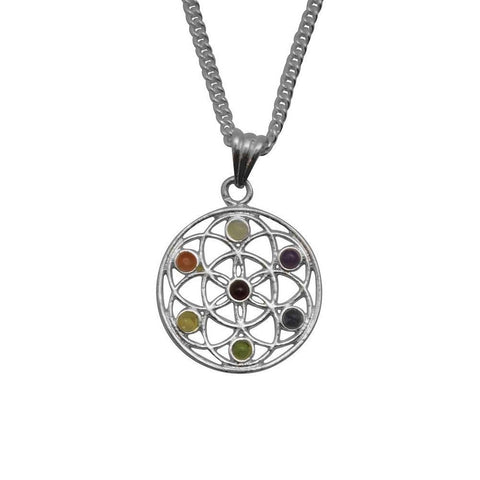 "20"" Mandala Chakra Metal Necklace - The Hippie House"