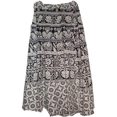 "24"" Black & White Wraparound Skirt - The Hippie House"