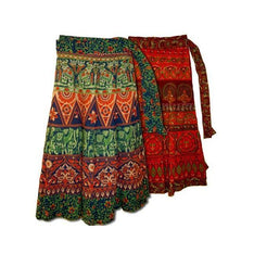 Cotton Wrap Skirt - Assorted Colours - The Hippie House