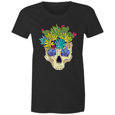 Women's Cactus Skull T-shirt - The Hippie House