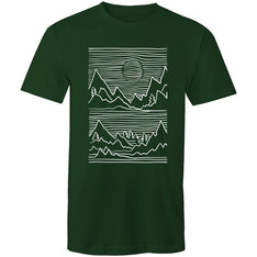 Men's Abstract Mountain Top T-shirt - The Hippie House