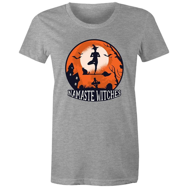 Women's Funny Namaste Witches T-shirt - The Hippie House