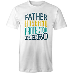 Men's Father Husband Protector Hero T-shirt - The Hippie House