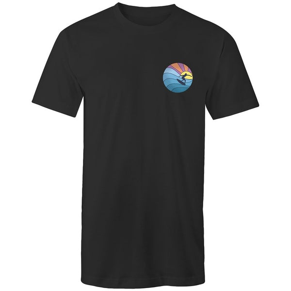 Men's Long Styled Surfing Pocket Logo T-shirt - The Hippie House