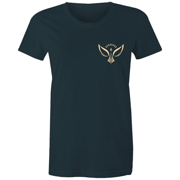 Women's Peace Phoenix Pocket T-shirt - The Hippie House