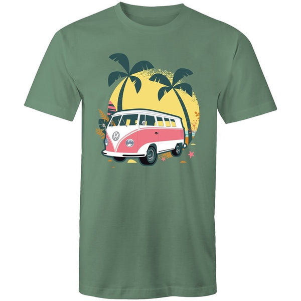 Men's Beach Kombi Van T-shirt - The Hippie House