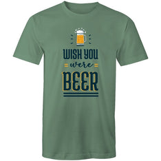 Men's Wish You Were Beer T-shirt - The Hippie House
