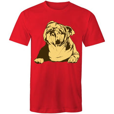 Men's Abstract Bulldog T-shirt - The Hippie House