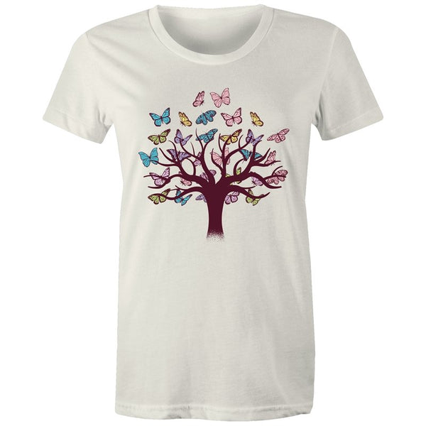 Women's Butterfly Tree Of Life T-shirt - The Hippie House