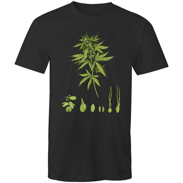 Men's Cannabis Breeding Diagram T-shirt - The Hippie House