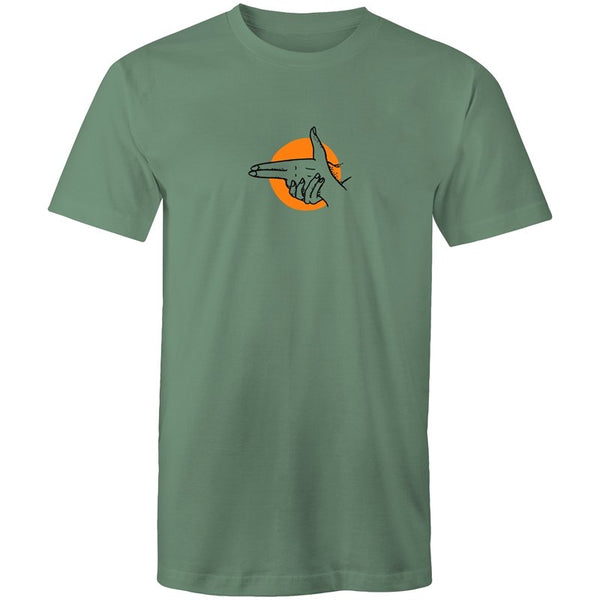 Men's Minimalist Hand Gun T-shirt - The Hippie House