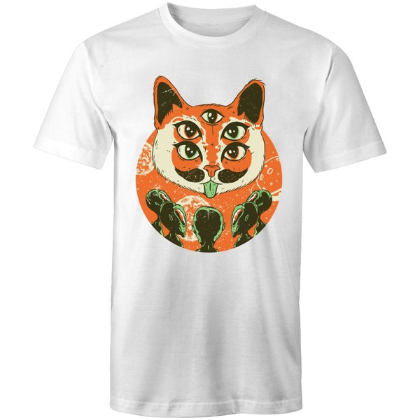 Men's Trippy Cat Alien T-shirt - The Hippie House