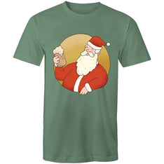 Men's Beer Drinking Santa T-shirt - The Hippie House